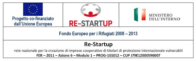 Re-Startup – rete nazionale per la creazione di imprese cooperative di titolari di protezione internazionale vulnerabili – Modulo 1