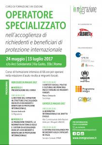 Roma: Operatore specializzato nell'accoglienza di richiedenti e beneficiari di protezione internazionale. Al via l'VIII edizione del corso