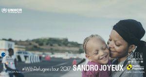 #WITHREFUGEES: approda a Roma il tour di Sandro Joyeux dedicato ai rifugiati