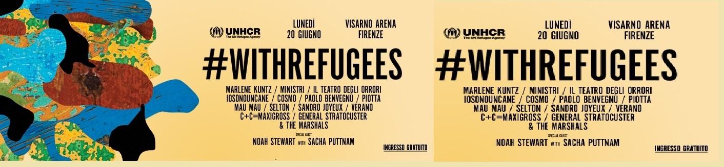 Giornata Mondiale del Rifugiato: UNHCR presenta a Firenze l'edizione 2016 del concerto #WITHREFUGEES