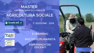 Aperte le iscrizioni al Master in Agricoltura Sociale 2018 dell'Università di Roma Tor vergata