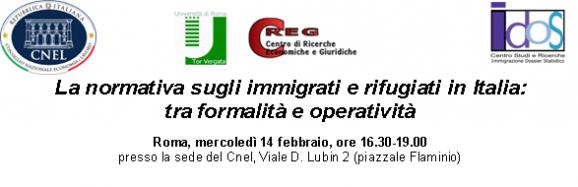 Presentazione a Roma del testo 'La normativa sugli immigrati e rifugiati in Italia: tra formalità e operatività'